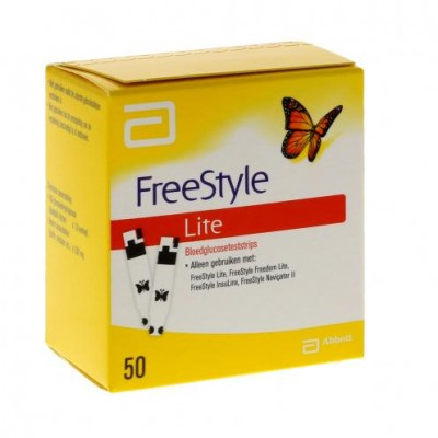 Abbott FreeStyle LITE sensoren, 50 strips