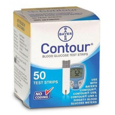 Bayer Ascensia Contour strips, 50 strips