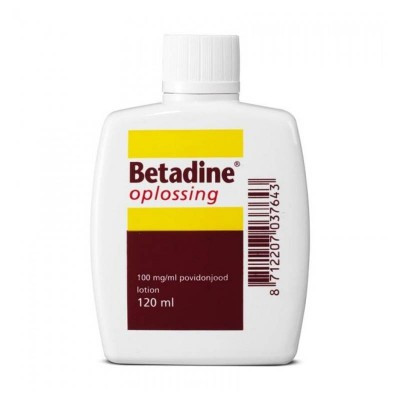 Betadine oplossing 100 mg/ml, flacon a 120ml