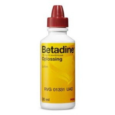 Betadine oplossing 100 mg/ml, flacon a 30ml