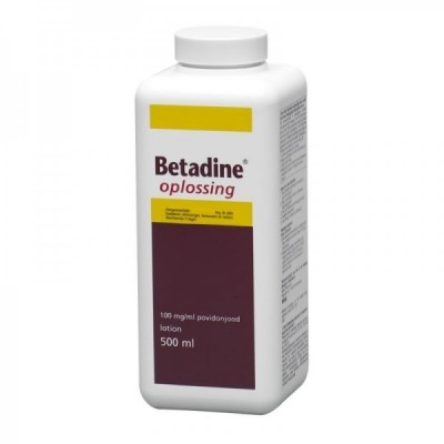 Betadine oplossing 100 mg/ml, flacon a 500ml