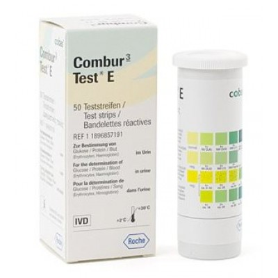 Combur-3 E urinetest, ( 50 strips )