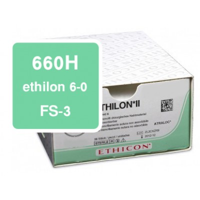 Ethilon 660H 6-0, FS-3, DS-16 per 36
