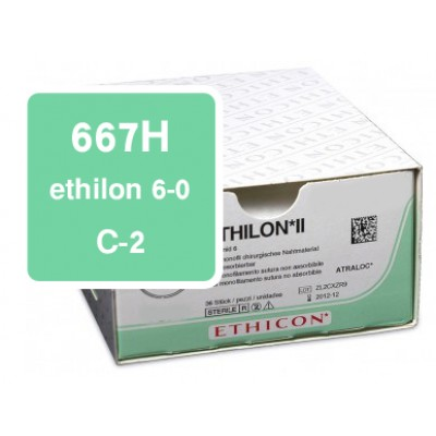 Ethilon 667H 6-0, C-2, DS-13 per 36