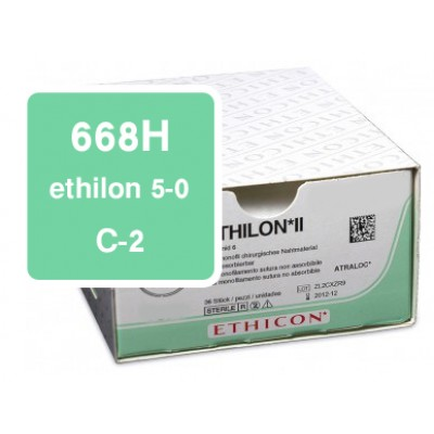 Ethilon 668H 5-0, C-2, DS-13 per 36